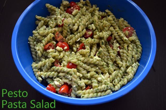 Flavors by Four: Pesto Pasta Salad