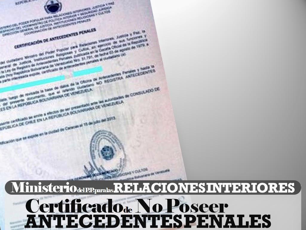 Decid emigrar certificaci n de antecedentes penales Ministerio de relaciones interiores y justicia