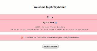 phpMyAdmin Error
