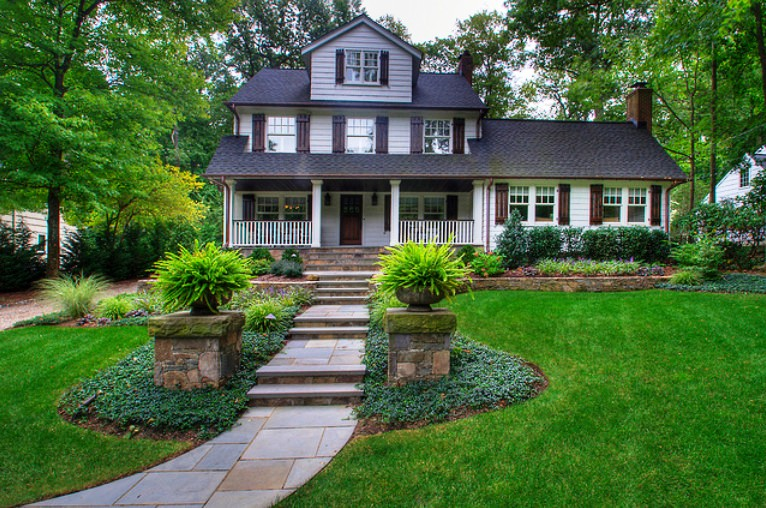 Landscape design ideas for your front yard landscaping for House front yard design