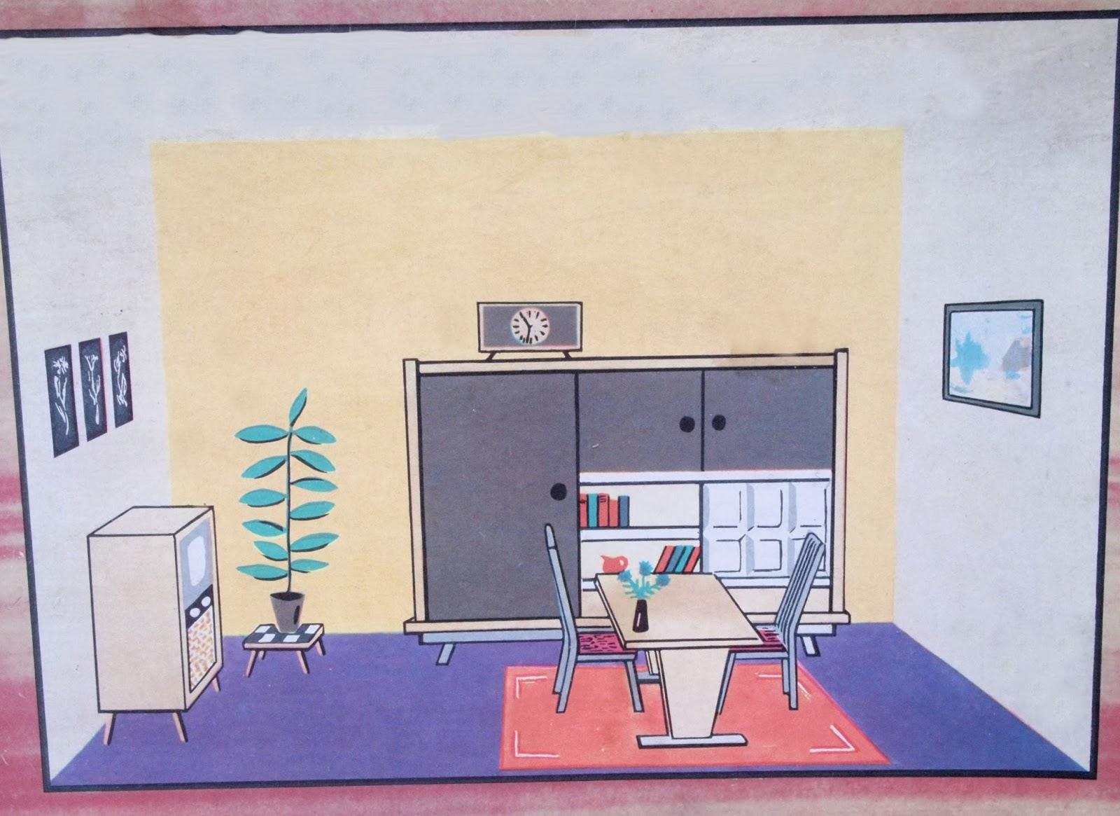 Diepuppenstubensammlerin 1960er wohnzimmer hermann for Wohnzimmer 1960