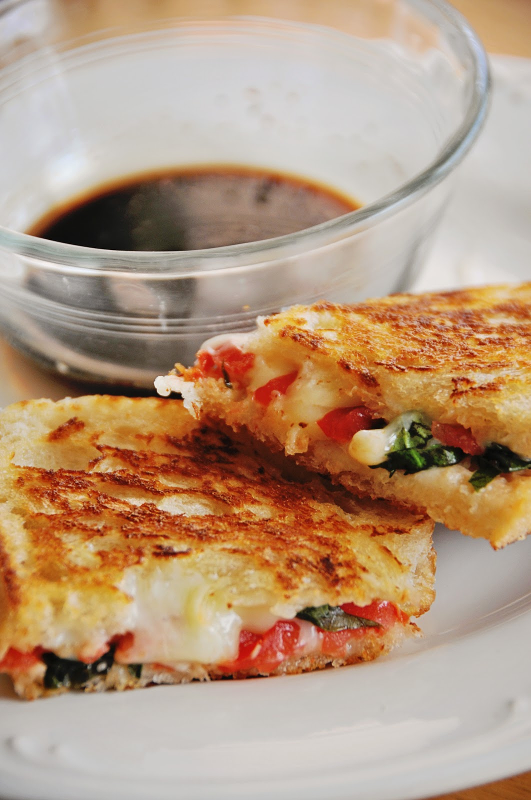 Barefoot and Baking: Caprese Grilled Cheese