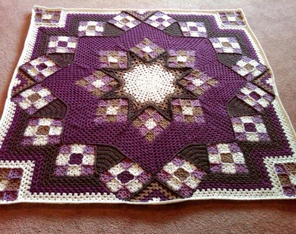 Free Crochet Pattern For Star Afghan : Blue Star afghan - Free Pattern