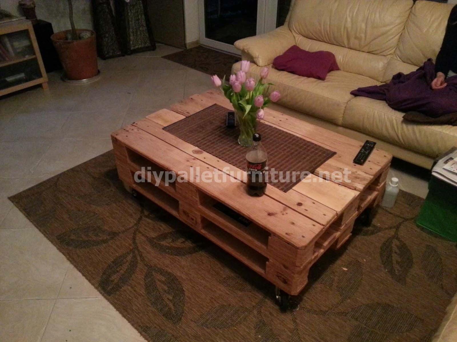 mesa neumtica de palets - Mesas Con Palets