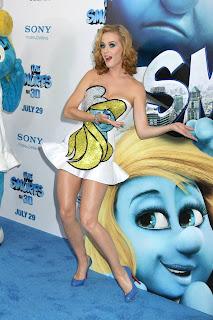 Katy Perry's Smurfette dress