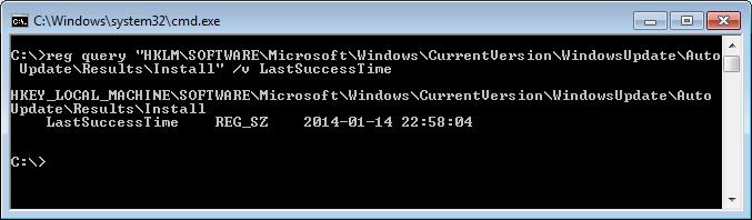 Determinar cuando se ha realizado el último Windows Update en un equipo