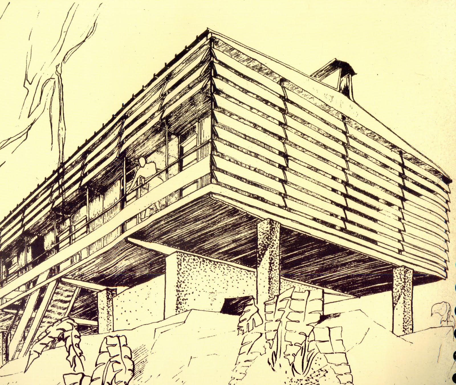 Maison Dessin Perspective : Arch les maisons tropicales december