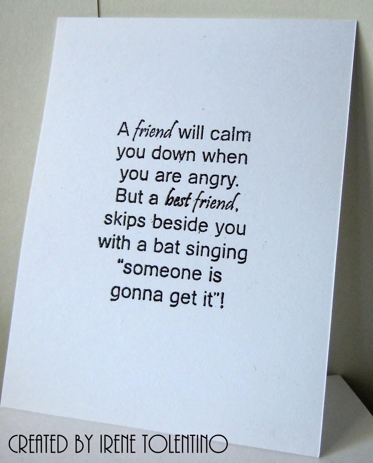 Relax. Make a Card: Best Friend Card