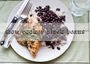 how to: slow cooker black beans