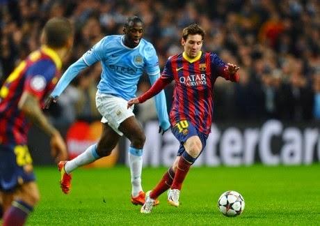 "Liga Champions : City vs Barca ""Perang Bintang Lini Serang"""
