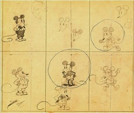 64 Historical Pictures you most likely haven't seen before. # 8 is a bit disturbing! - The early Micky Mouse drawing by Walt Disney