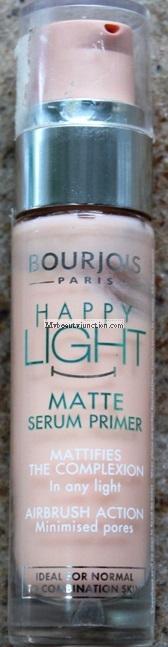 Bourjois Happy Light Matte Serum Primer review, swatch, photos