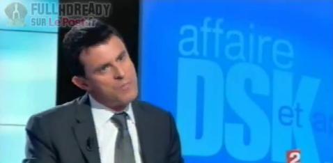 Valls en colère contre les journalistes sur l'affaire DSK