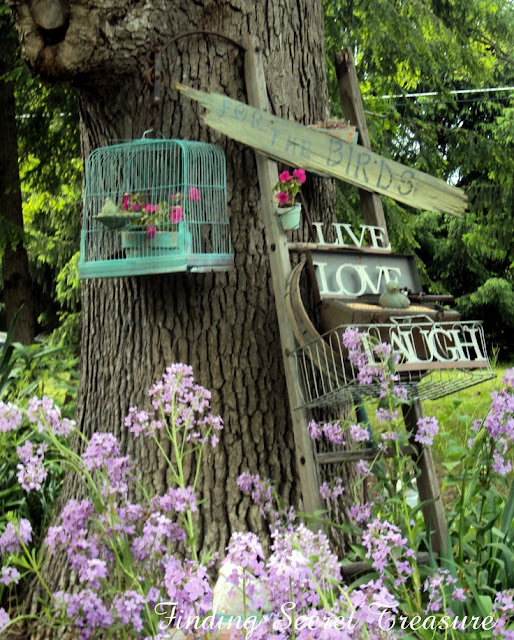 Ladder garden art