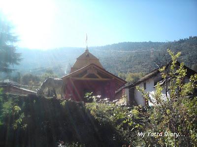 Syayambhu Hanuman Temple in Joshimath near Badrinath in Uttarakhand
