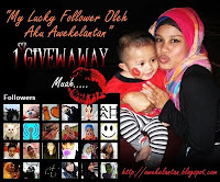 My Lucky Follower Oleh Aku Awekelantan 1st Giveaway