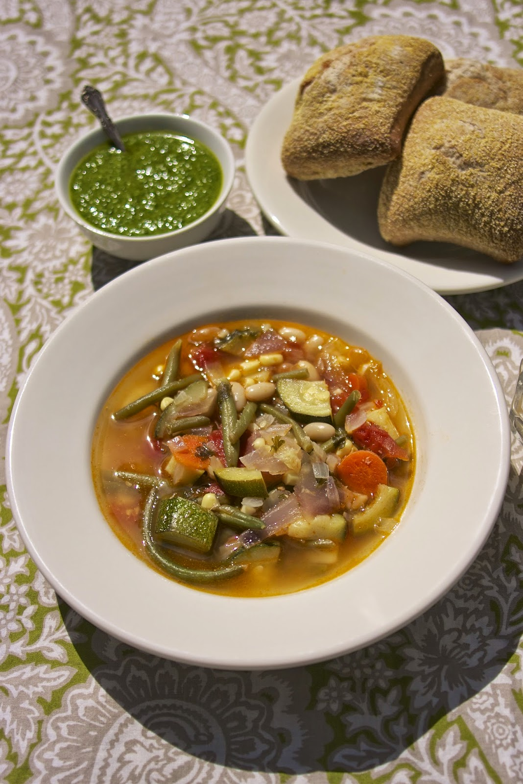 Summer Vegetable Soup: Provencal Vegetable Soup: simplelivingeating.com