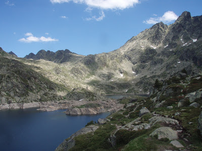 Estany de Juclar mountains lake Andorra hike trail