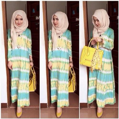 Model Baju Muslim Sederhana Untuk Sehari-Hari Oleh Angella Fransisca