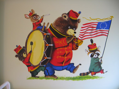 The Bear Band (Richard Scarry) mural above Hank's crib