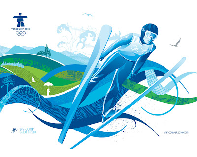 Free Vancouver 2010 Olympic Winter Games PowerPoint Background 4