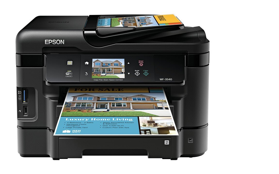 Epson WorkForce WF-3540 Wireless All-in-One Color Inkjet Printer, Copier, Scanner, 2-Sided Duplex, ADF, Fax. Prints  Product Description