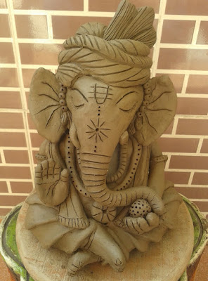 biodegradable Ganesha Idol