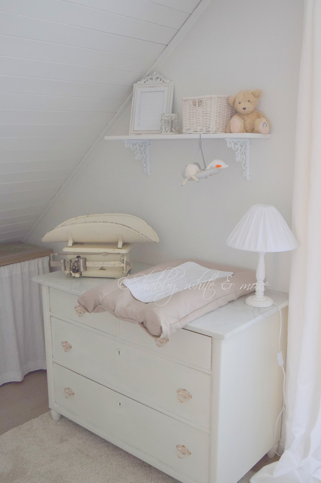 shabby, white and more...: Baby nursery part II