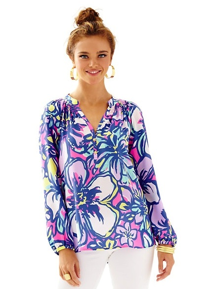 lilly pulitzer elsa top tropical pink catwalkin