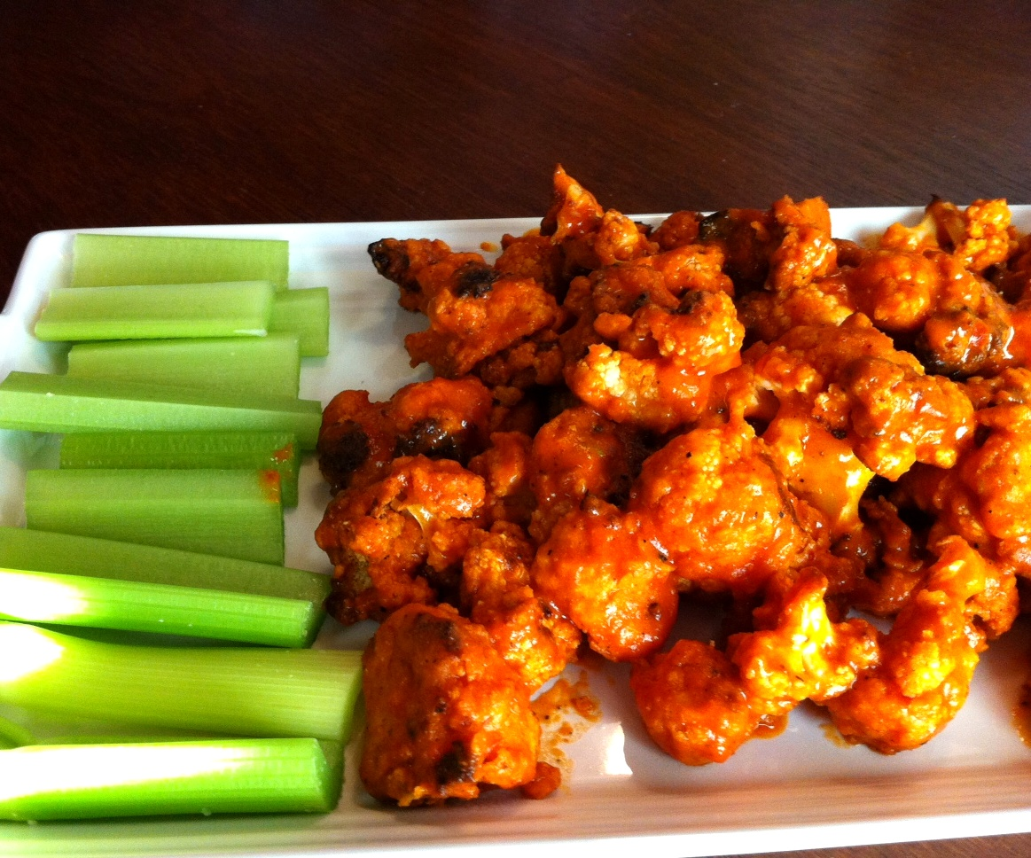 "Paired with Follow Your Heart Ranch dressing, these ""wings"" were ha..."