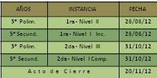 <em>Cronograma 2012</em>