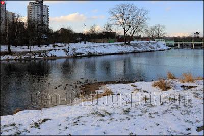 Минск. Река Свислочь зимой