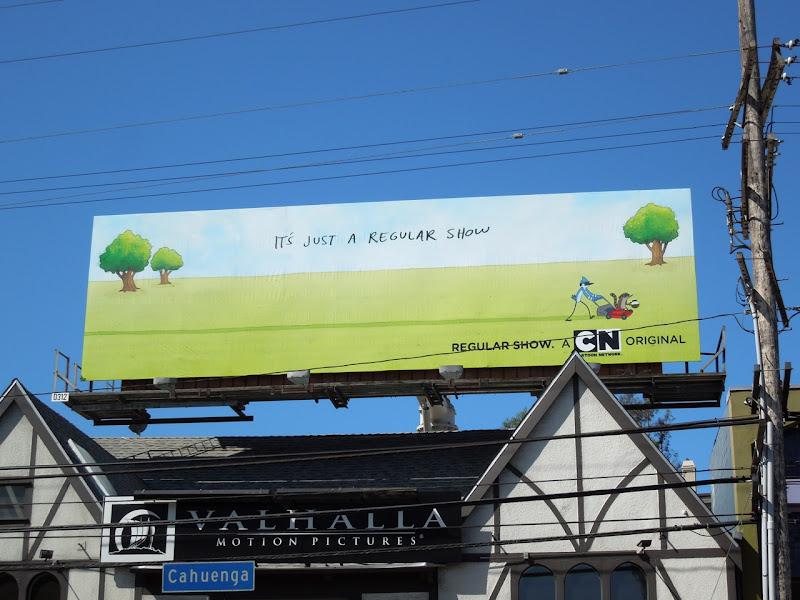 Regular Show Cartoon billboard