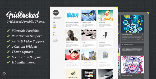 Gridlocked Minimalistic WordPress Theme Free Download by ThemeForest.