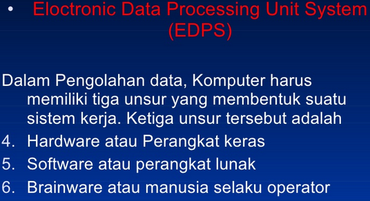 Electronic Data Processing System