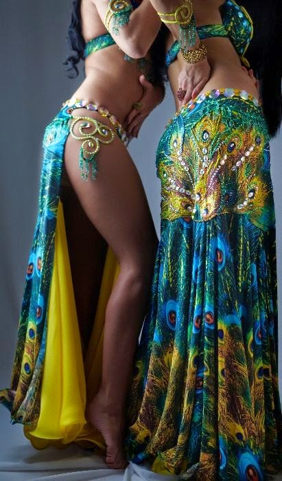 peacock belly dance costumes