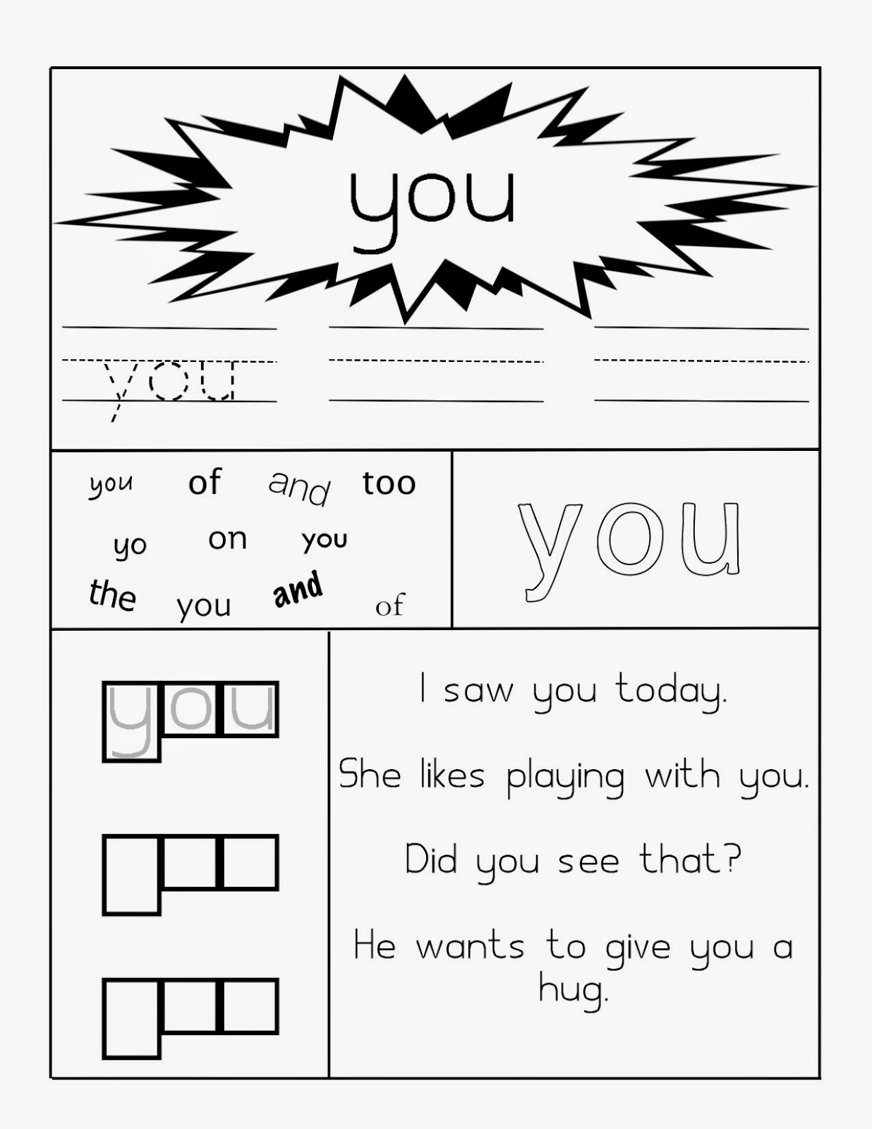 Sight Word Worksheets and Color By Sight Word by Karen Bass | TpT