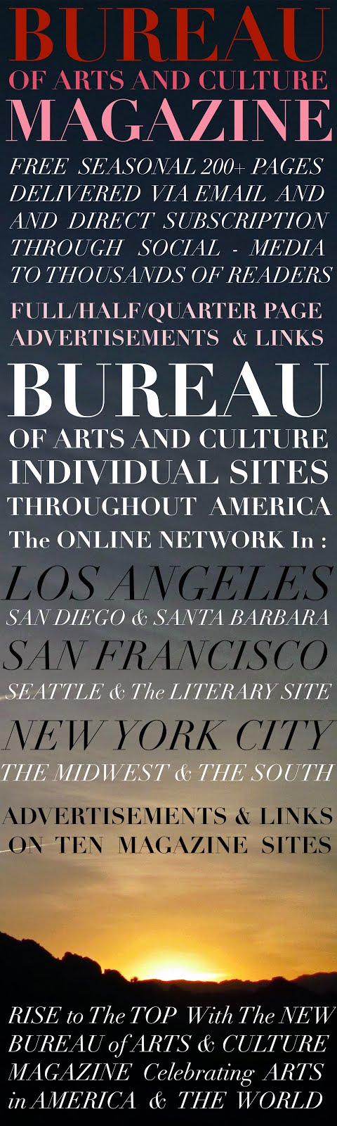 WELCOME TO BUREAU OF ARTS AND CULTURE SAN FRANCISCO USA