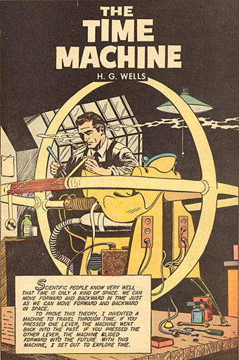 Illustrated Book Cover Review ~ Lions and men book review the time machine by h g wells