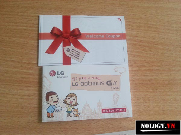 sách hướng dẫn cả điện thoại LG Optimus Gk