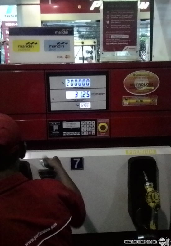 Harga diesel Bandung Indonesia