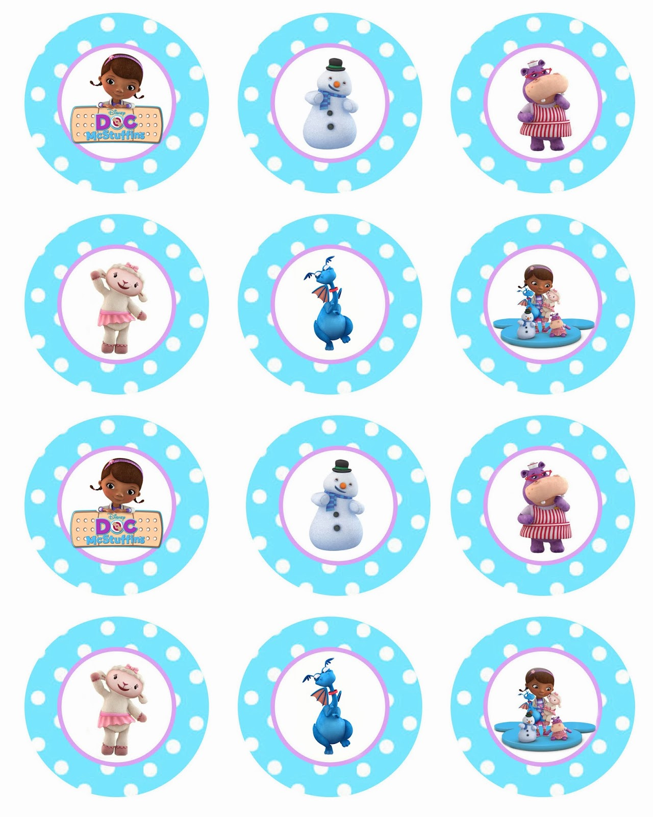 To download these FREE Doc McStuffins cupcake toppers, click HERE !