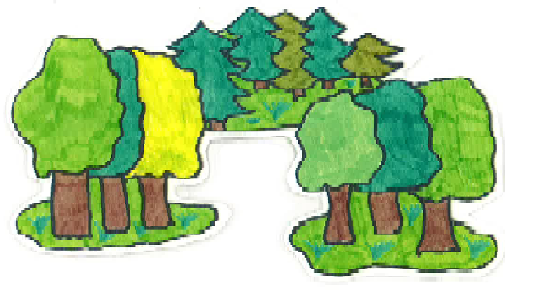 Bildresultat för sommar skog tecknat