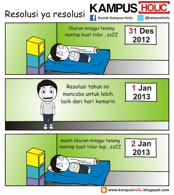 #001 Resolusi ya resolusi komik kampus holic