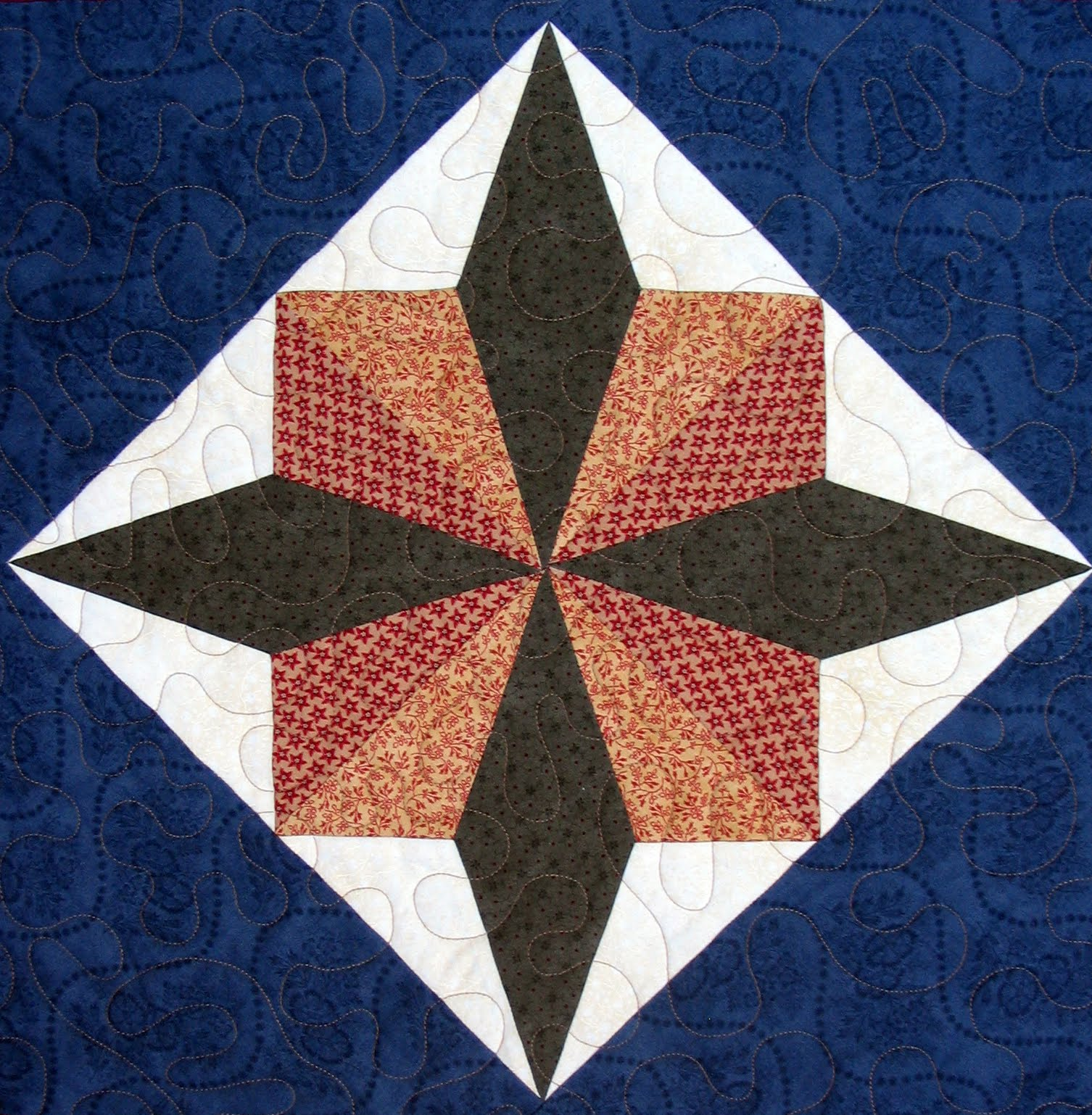 Starwood Quilter: Turkey Tracks Quilt Block and a Thanksgiving Recipe, Part I