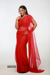 Samvritha-Sunil-Latest-Stills-in-Saree