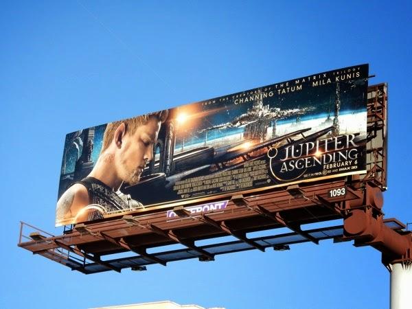 Channing Tatum Jupiter Ascending movie billboard