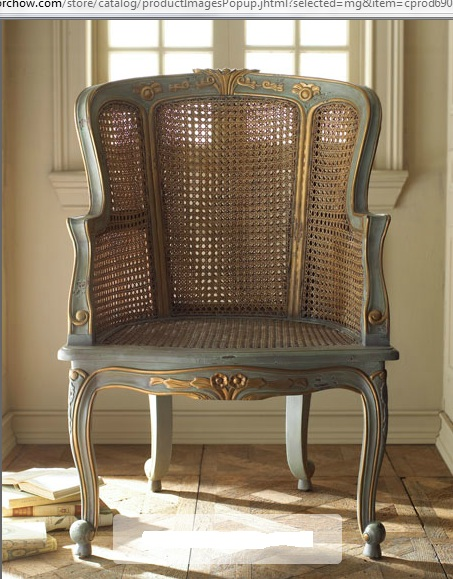 Cottage frameworks caned back chair inspiration for Stores like horchow
