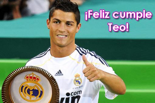 Felicitación de Cristiano Ronaldo a Teo por sus 7 añitos