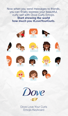 Dove's curly hair emojis